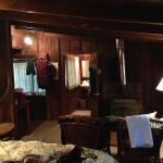 The interior of our New Room cabin.