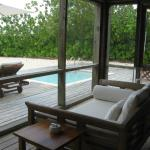 Private pool and lanai/sitting room off deck