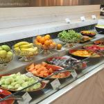 Fresh fruit spread at breakfast