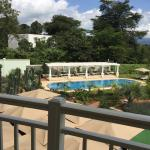 The rooms overlook the swimming pool