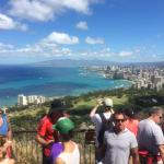 A view of Waikiki form the top of Diamond Head