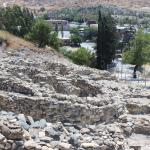 Clearly defined excavations of the original round houses and walls