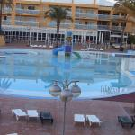 The hotel pool