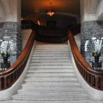 Grand staircase in lobby