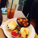 Good morning Eggs Benedict and Bloody Mary! Thank you Jessica and Joshua!!