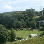 one view over the park with the camping pods