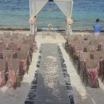 Set-up for ceremony on the beach