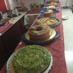 Lovely presentation of the cakes and great taste! A genuine and healthy breakfast to start a hot