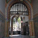 entrance to hotel with beautiful tiles