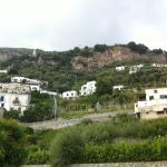 The landscape outside the hotel