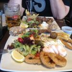 Wonderful Greek meze platter as suggested by the waiter.