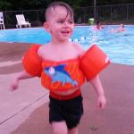 Daniel jr loving the pool