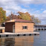 Enclosed heated fishing dock with TV