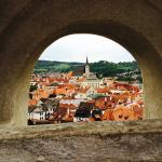 Views of Cesky Krumlov from Castle Grounds