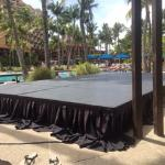 Sound stage you have to walk around all day at pool