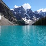 On Moraine Lake from a canoe!