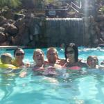 My family at the pool