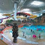 Part of the indoor water park in Kalahari.