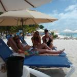 Exclusive beach chairs & umbrellas for Ixhcel - bucket of beers purchased separately ;)