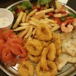 seafood platter- dissapointing!