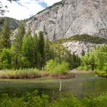 River Separating Meadow from Canyon Walls
