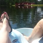 Paddle boating....well one of us! :)