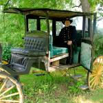 Carriage on front lawn