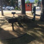 Charcoal grills & picnic tables available