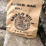 Gringo Bill's sack lunch at Machu Picchu