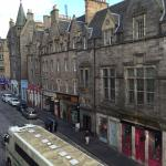 The view of St Mary's Street from our 3rd floor room