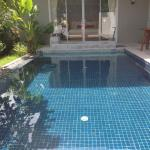 The pool in pool villa