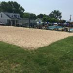 Pools and volley ball court