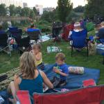 Oxford Suites lawn for fireworks viewing