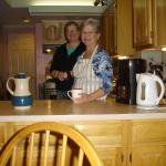 Innkeeper/owner Chris, and her daughter Martha, in the kitchen. Such lovely people!
