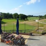 Our window view of the first tee.