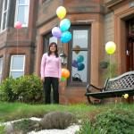 Salma and her Birthday Balloons