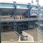 This is the view of PNC Park from my window.