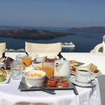 Delicious breakfast with a breathtaking view