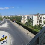 view from bridge over the road from apartments