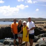 With my parents on island tour.  A must!