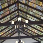 The ceiling of the wedding chapel, covered in hand painted tiles.