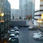 Parking lot view from room