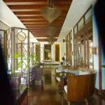 One of the verandahs leading to the cafe.