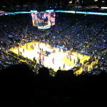 Nose bleed seats (4 rows from top) at Oracle Arena