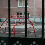 Playground equipment.  Later the hostel kids were playing on it while drinking and talking loudl