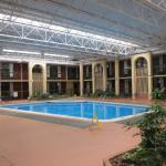 Inside with swimming pool