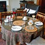 This historic homestead serves a great breakfast in a beautiful dining room.