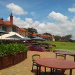 Outdoor dining area with a beautiful view of the Golf course