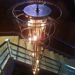 Original chandelier in the stair well