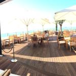 Panoramic shot of the rooftop bar named the Sirocco Bar. Also used for dining.